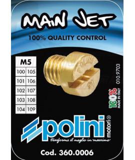 Set 10 getti Dell'orto 5 mm Polini dal 100 al 109