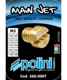 Set 10 getti Dell'orto 5 mm Polini dal 110 al 128
