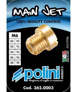 Set 10 getti Dell'orto 6 mm Polini dal 80 al 98