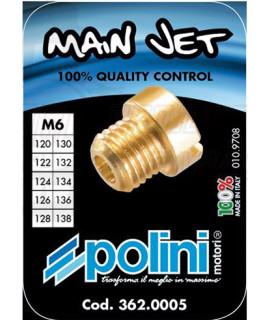 Set 10 getti Dell'orto 6 mm Polini dal 120 al 138