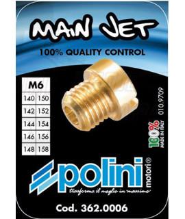 Set 10 getti Dell'orto 6 mm Polini dal 140 al 158