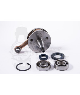 Albero motore per lamellare al carter/cilindro biella 97mm corsa 51 mm Falc Racing bilanciatura pistone Ø 56, 57, 58 mm