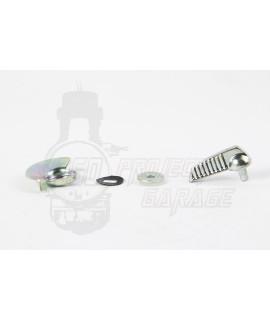Levetta serratura sportello motore a righe verticali