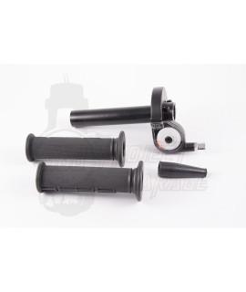 "Gas rapido in ergal CNC Motoforce "" super rapido "" nero con manopole"