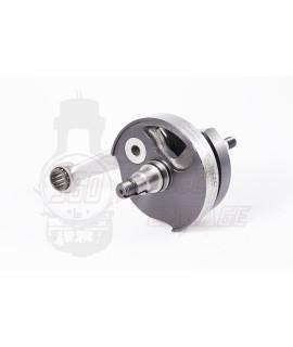 Albero motore Mazzucchelli anticipato per Doppia alimentazione Vespa 125 PK, Et3, Primavera, cono 20 mm, corsa 51 mm
