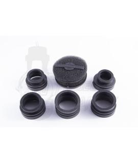 Filtro aria in spugna Marchald filters double layer nero adattatori D. 28, 32, 36, 39, 43 mm.