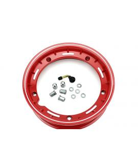 """Cerchio vespa 10"""" Tubeless canale 2.50 rosso"""