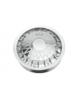 """Cerchio in lega 10"""" Scomponibile cromato Borchia Ceres Vespa 50 Special, PX, 125 Primavera Et3"""