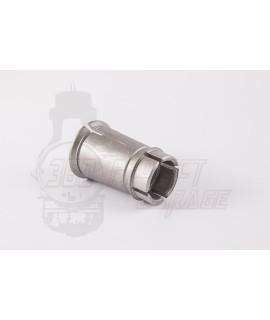 Bocchettone in alluminio collettore originale Piaggio 16/10, 16/16 mm Vespa 50 Special, 50 L, N, R