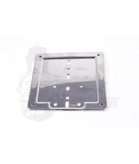 Porta targa Vespa 125 Et3, Primavera, Cromato in acciaio inox 170x170 mm