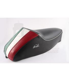 Sella monoposto Vespa 50 special Nera con tricolore