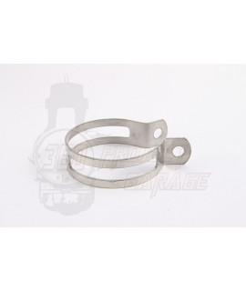 Fascetta collare per silenziatore marmitta D. 60 mm in acciaio Inox MD Racing