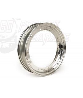 Cerchio in acciaio INOX High Quality cromato BGM Original 2.10-10 Vespa 50 Special, 125 Et3, Primavera, PK, PX 125, 150, 200.
