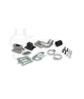 Collettore di alimentazione lamellare al cilindro Malossi, cilindro alluminio( 2A serie ) collettore D.25 mm
