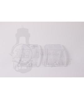 Cristalli anteriori frecce trasparenti bianco vespa PK 50, 125 XL, HP, Rush