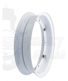 "Cerchio scomponibile 10"" bianco Vespa 50 Special, 125 Et3, Primavera, PX, Rally, PE, Sprint, PK"