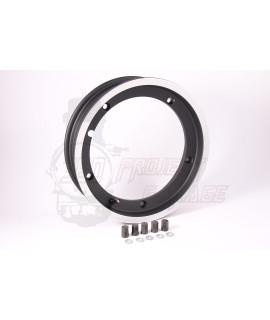 """Cerchio tubeless Sip 2.50 - 10"""" nero con bordo lucidato"""