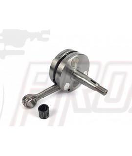 Albero motore spalle piene, cono 20, corsa 51 mm, biella 105 mm, spinotto 15 mm, carter Smallframe Parmakit