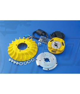Accensione elettronica Parmakit Selettra a rotore interno, cono 20 mm, anticipo variabile Vespa Smallframe, Largeframe