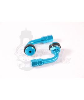 Valvole rigide alluminio Blu cerchio tubeless 90° Stage 6