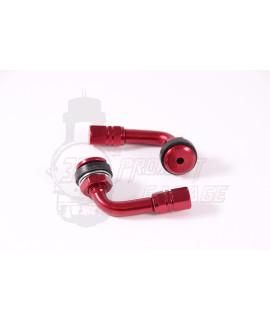 Valvole rigide alluminio Rosso cerchio tubeless 90° Stage 6