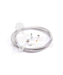 Tubo freno idraulico in treccia metallica + raccordi Crimaz, freno a disco Vespa Smallframe