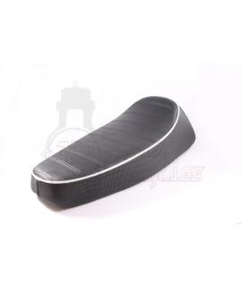 Sella Sport rivestita in doppio skai Vespa Largeframe PX 125, 150, PX 200, PE, GT, Sprint, TS, Super, GL Nisa