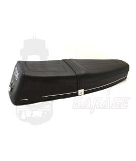 Sella Vespa T5 Biposto nera con bottone di apertura Nisa