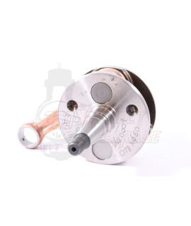 Albero motore per lamellare al carter/cilindro biella 97mm corsa 51 mm Falc Racing bilanciatura pistone Ø 60 mm