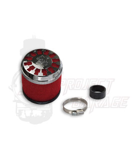 Filtro aria Red Filter E13 dritto imbocco Ø 32/38 mm Malossi, carburatori Dell'orto PHBL, PHBG