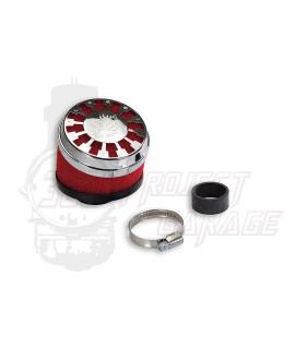 Filtro aria Red Filter E13 inclinato 25° imbocco Ø 32/38 mm Malossi, carburatori Dell'orto PHBL, PHBG