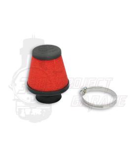 Filtro aria Red Filter E17 dritto imbocco Ø 32 mm Malossi, carburatori Dell'orto PHBL, PHBG