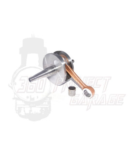 Albero motore FULL CIRCLE DRT Corsa 60 mm, biella 110 mm, cono 20 mm, spalle piene Vespa PX 125, PX 150