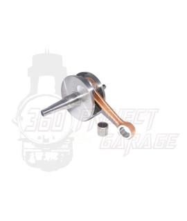 Albero motore FULL CIRCLE DRT Corsa 57 mm, biella 105 mm, cono 20 mm, spalle piene Vespa PX 125, PX 150