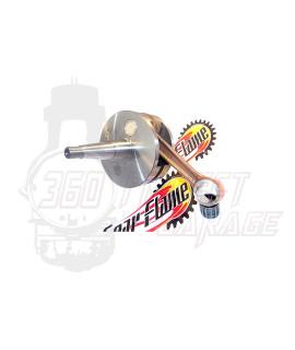 Albero motore FULL CIRCLE DRT Corsa 60 mm, biella 110 mm, cono 20 mm, spalle piene Vespa PX 200, P200E