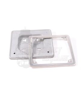 Porta targa Vespa 50 in acciaio  inox cornice cromata