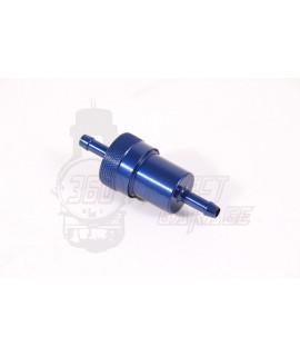 Filtro Benzina in alluminio smontabile e lavabile Blu Ø attacchi 7,5 mm
