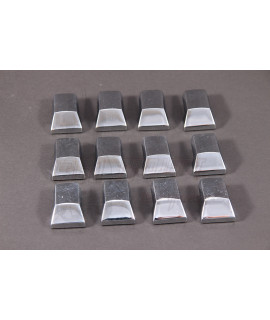 Puntali in acciaio cromato strisce pedana Vespa PX 125, 150, 200, Arcobaleno