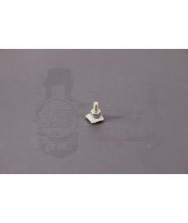 Vite fissaggio listelli ornamentali in ferro zincato 9,5x9 mm M3 con bulloncino e rondella