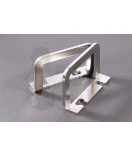 Gancio porta borsa/tanica inox fissaggio pedana centrale Smallframe, Largeframe