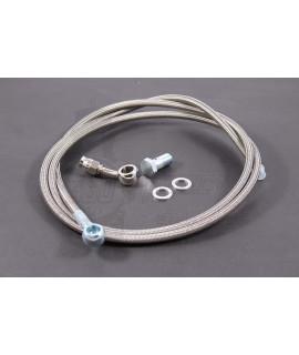 Tubo freno idraulico in treccia metallica + raccordi Crimaz, freno a disco Vespa Largeframe