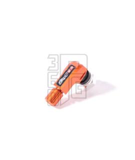 Valvola cerchio tubeless Stage6 anodizzata arancione con curva a 90°
