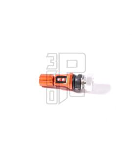 Valvola cerchio tubeless Stage6 anodizzata arancione dritta