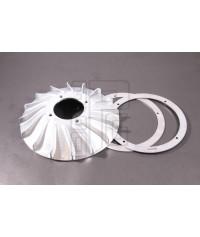 Ventola CNC con anelli di appesantimento accensione Vespatronic, Parmakit, Polini Vespa Largeframe, PX 125, 150, 200