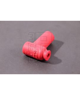Pipetta candela in silicone rosso NGK resistore 5 OHM