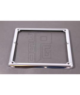 Cornice porta targa 180x180 in acciaio cromato Vespa Largeframe