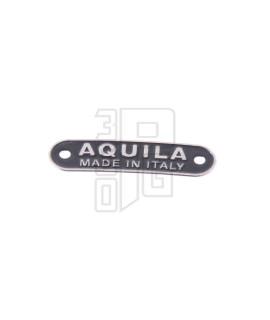 Targhetta sella Aquila 63,5x17 mm